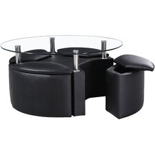 Dakota Coffee Table with Stools