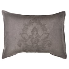 "Damask 15"" x 20"" Medallion Embroidery Decorative Down Pillow"