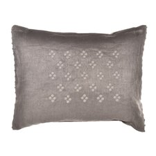 "Damask 12"" x 16"" Petit Pois Embroidered Decorative Down Pillow"