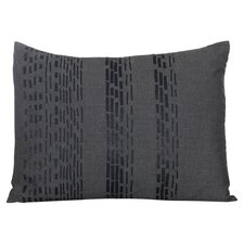 Pom Pom Interrupted Lines Decorative Throw Pillow