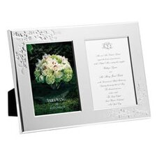 Vera Lace Bouquet Double Invitation Picture Frame