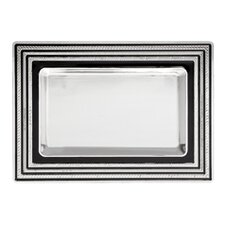 With Love Noir Vanity Rectangular Serving Tray
