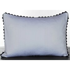 <strong>Vera Wang</strong> Pom Pom Satin Pleated Decorative Pillow