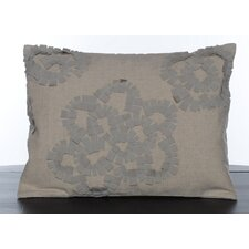 Etched Roses Quilted Tattersall Decorative Pillow