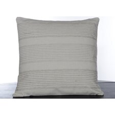 Etched Roses Stitched Stripe Decorative Pillow