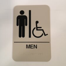 Men's Handicap restroom sign