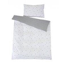 2-tlg. Bettwäsche in Sternchen-Dekor