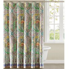 Scarf Paisley Cotton Shower Curtain