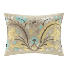 Paros Cotton Faux Linen Oblong Pillow