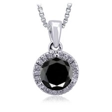Sterling Silver Halo Diamond Pendant