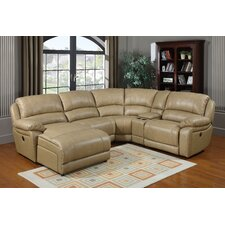 Brisbane Left-Facing Leather Sectional