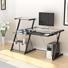 <strong>Z-Line Designs</strong> Nero Computer Desk and Bookcase