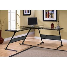 Delano Glass L-Shape Computer Desk
