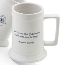 Personalized Gift Famous Beer Quote Stein Mug