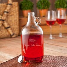 Personalized Gift 3 Piece Wine Jug and Glass Set