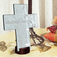 <strong>JDS Personalized Gifts</strong> Personalized Gift Faith and Flowers Cross