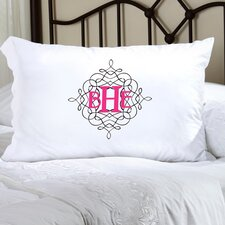 Personalized Gift Felicity Wistful Monogram Pillowcase