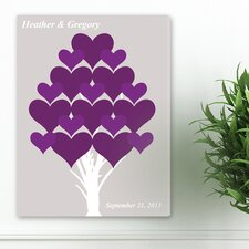 <strong>JDS Personalized Gifts</strong> Personalized Gift Signature Forever Hearts Canvas Print