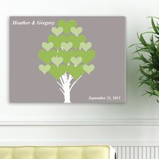 <strong>JDS Personalized Gifts</strong> Personalized Gift Signature Blooming Hearts Canvas Print