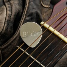 Personalized Gift Sterling Guitar Pick