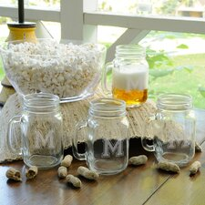 Personalized Gift Collegiate Glass Jar (Set of 4)