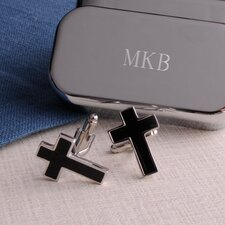 Personalized Gift Cross Cufflinks with Personalization