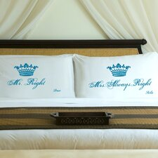 "Personalized Gift Couples ""Royal"" Pillowcase (Set of 2)"