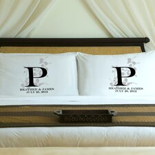 """Personalized Gift Couples """"Nature's Bliss"""" Pillowcase (Set of 2)"""