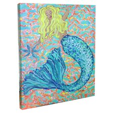 Blonde Mermaid Mounted by Giclee Gerri Hyman Painting Print on Canvas