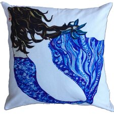 Mermaid Brunette Cotton Pillow
