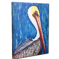 Pelican Mounted Giclee Wall Art