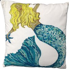 Mermaid Blonde Cotton Pillow