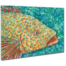 Spotted Grouper Mounted Giclee Wall Art