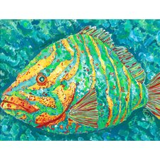 Striped Grouper Canvas Mat
