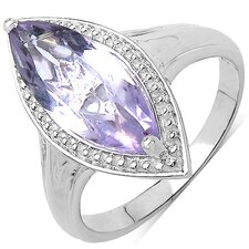 925 Sterling Silver Marquise Cut Amethyst Ring