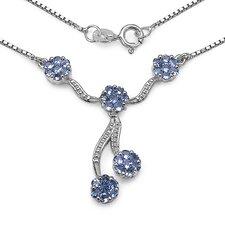925 Sterling Silver Tanzanite Necklace