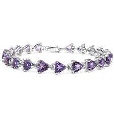 Trillion Cut Gemstone Link Bracelet