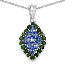 925 Sterling Silver Marquise Cut Gemstone Pendant