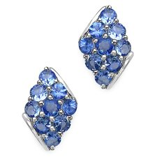 Round Cut Tanzanite Stud Earrings