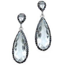 Pear Cut Crystal Quartz Drop Earrings