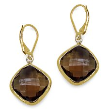 <strong>JewelzDirect</strong> Cushion Cut Gemstone Drop Earrings