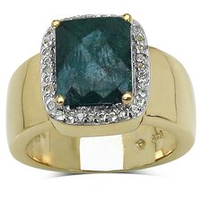 925 Sterling Silver Emerald Cut Gemstone Halo Ring