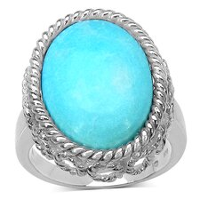 925 Sterling Silver Oval Cut Turquoise Ring