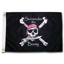 Pirate Heads 'Surrender the Booty' Traditional Flag