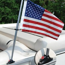 <strong>Taylor Made Products</strong> Pontoon Mounted Flag and Flagpole Set