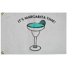 Novelty Design 'It's Margarita Time' Traditional Flag