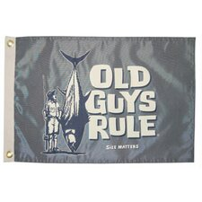 Old Guys Rule 'Size Matters' Traditional Flag