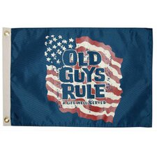 Old Guys Rule 'A Life Well Served' Traditional Flag