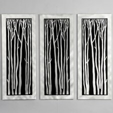 <strong>Nova</strong> Gilmore Silver Birch Wall Graphic (Set of 3)