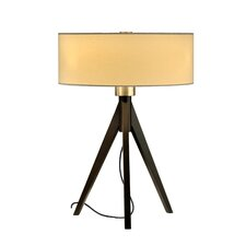 """Tripod 22"""" H Table Lamp with Drum Shade"""
